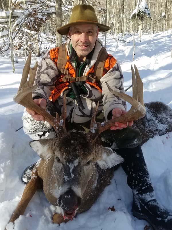 2019: Mark Shelhamer tracked this 180-pound, 12-pointer on Dec. 4 in Ohio, Herkimer County.