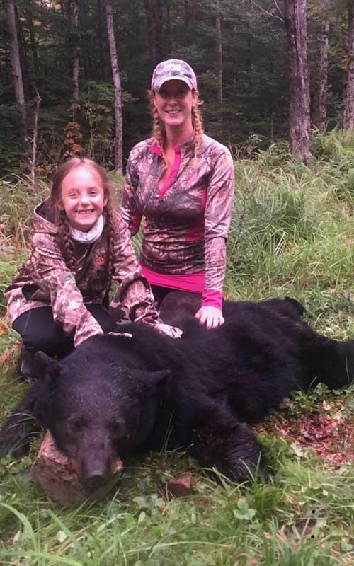 2019: Ashley Reininghaus of Fulton County with a 240-pound black bear taken Sept. 14 in Hamilton County.