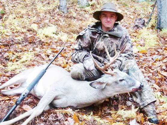 2014: Nick Porter, 8-pointer, 165-pounds, First Buck, early muzzleloading season, Johnsburg