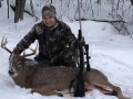 2018: Justin Westra Bloomingdale, NJ with his first Adirondack buck; and 8-pointer taken in Lake Pleasant, Hamilton County.