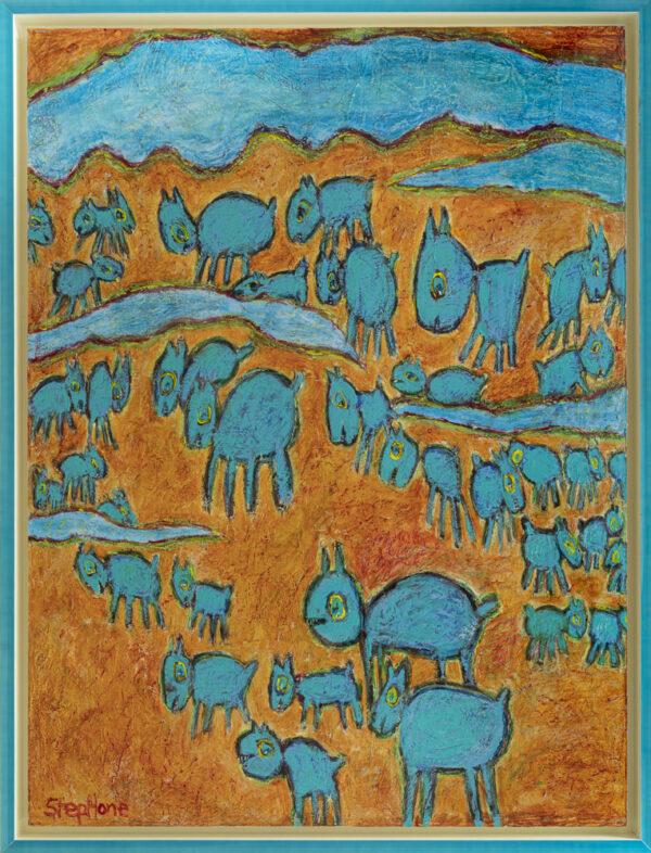 Sheep in the Prairie