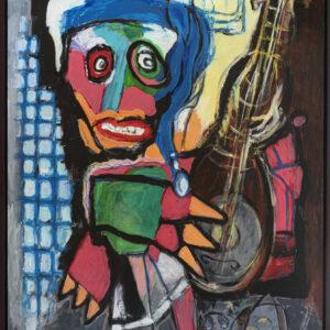Girl playing the Banjo