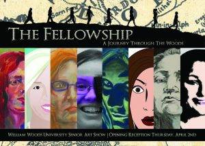 Senior art students at William Woods University created this image of self-portraits to promote their show.