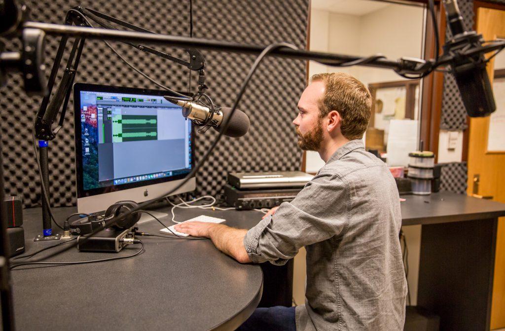 Tony Weed in studio
