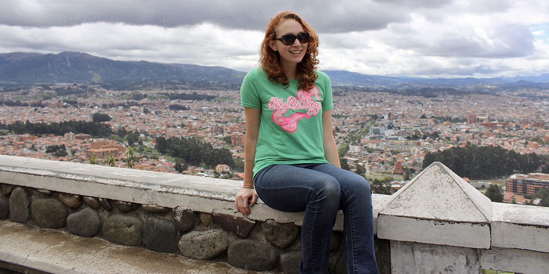 Allyson Hawkins in Ecuador