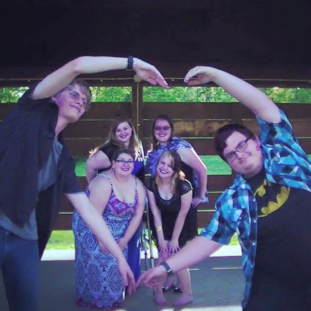 Rachel with friends