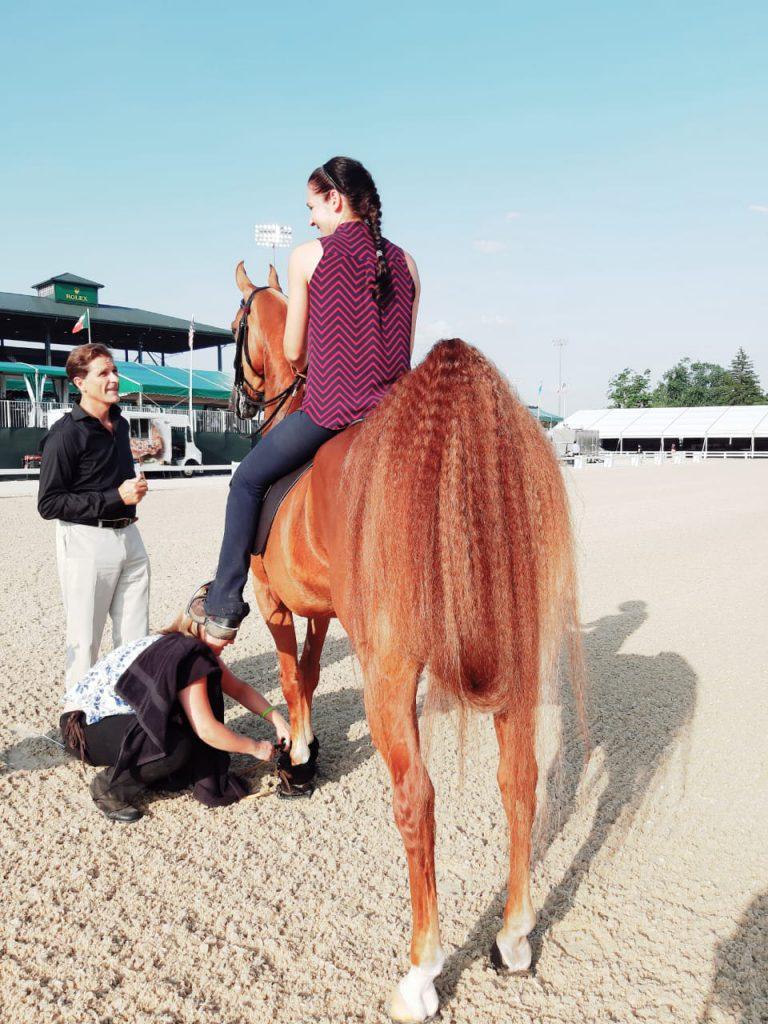 Sarah MacKenna training a horse