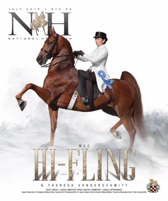 Theresa Vonderschmitt riding Hi Fling