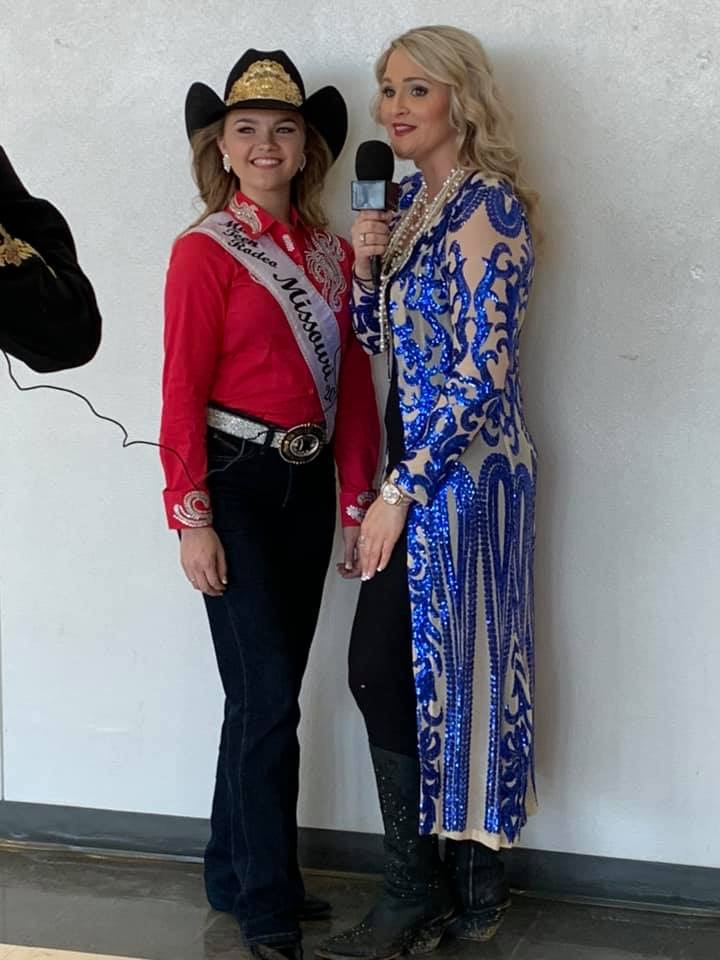 Ashley Bauer with a future Miss Rodeo Missouri