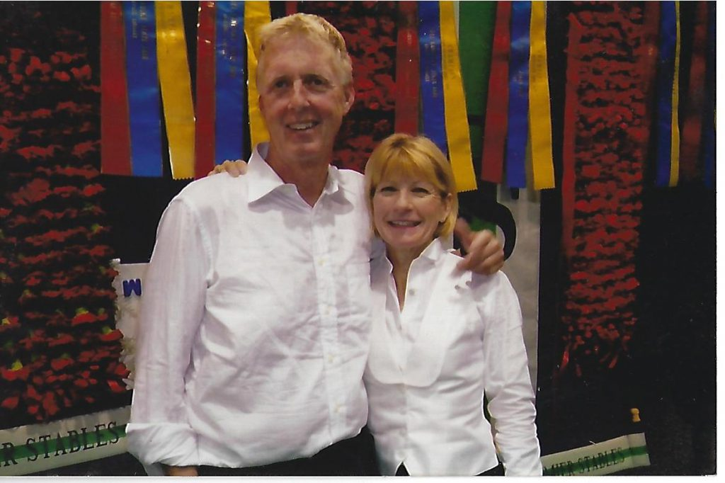 Rob & Sarah the night she won the Ladies 3 Gaited World Championship and Rob won the 5-Gaited World Championship