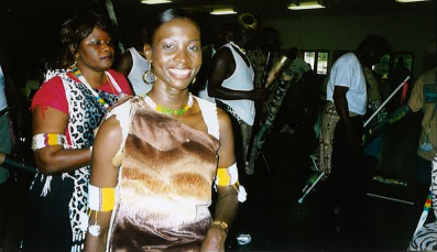 Photo of Benane Awejok Akurkuch in Sudanese dress