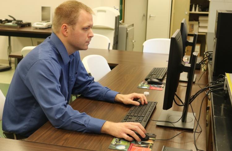 Sean Baldridge on computer