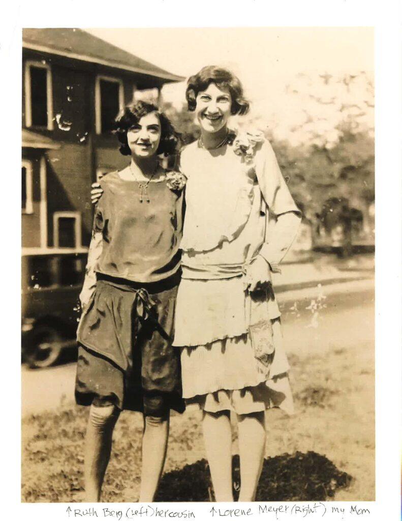 Ruth Berg and Lorene Meyer