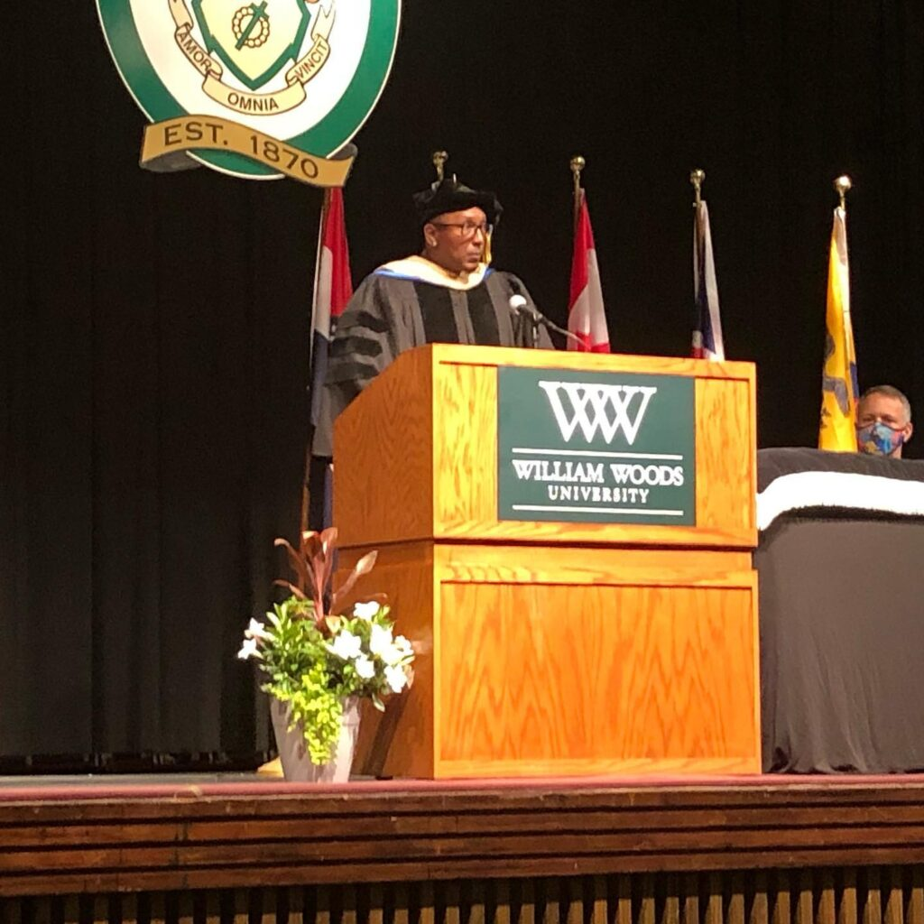 Dr. Thomas Trice speaks