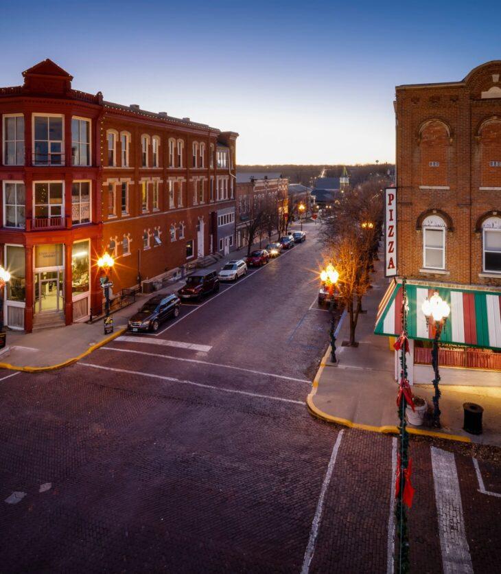 Brick District downtown Fulton, Missouri