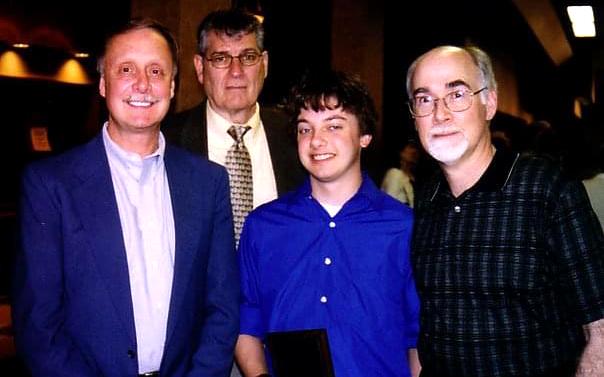 Joshua Potter with WWU professors