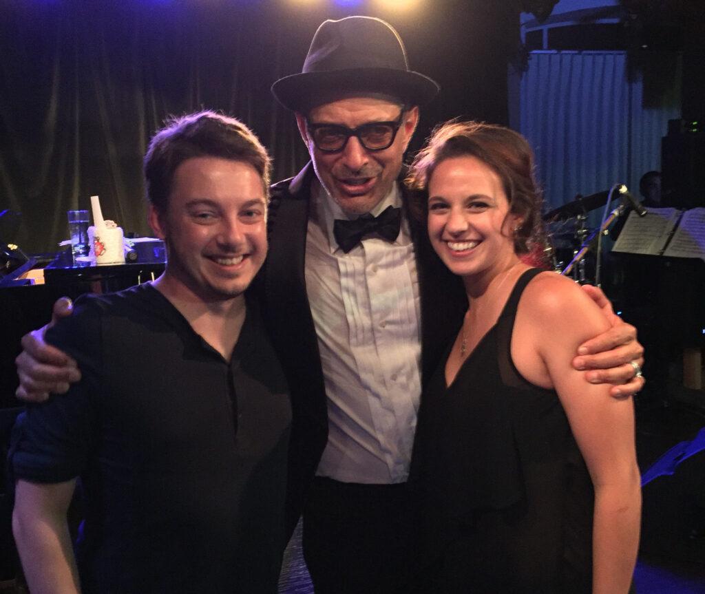 Joshua Potter with Jeff Goldblum
