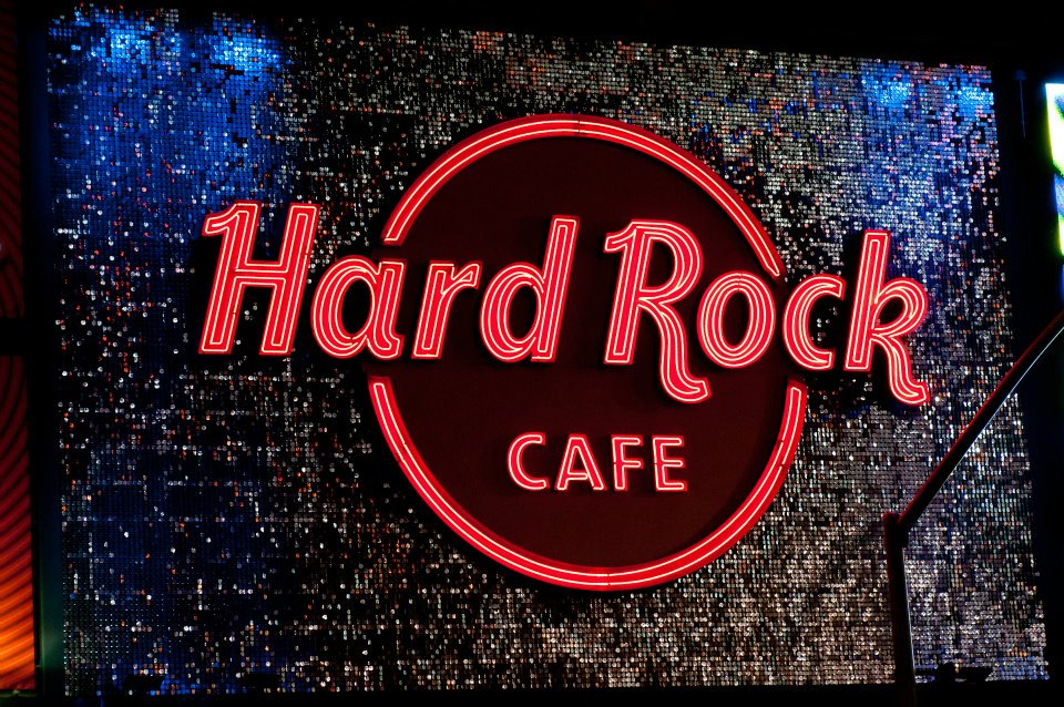 Hard Rock Cafe Los Angeles SolaRay Sign 2