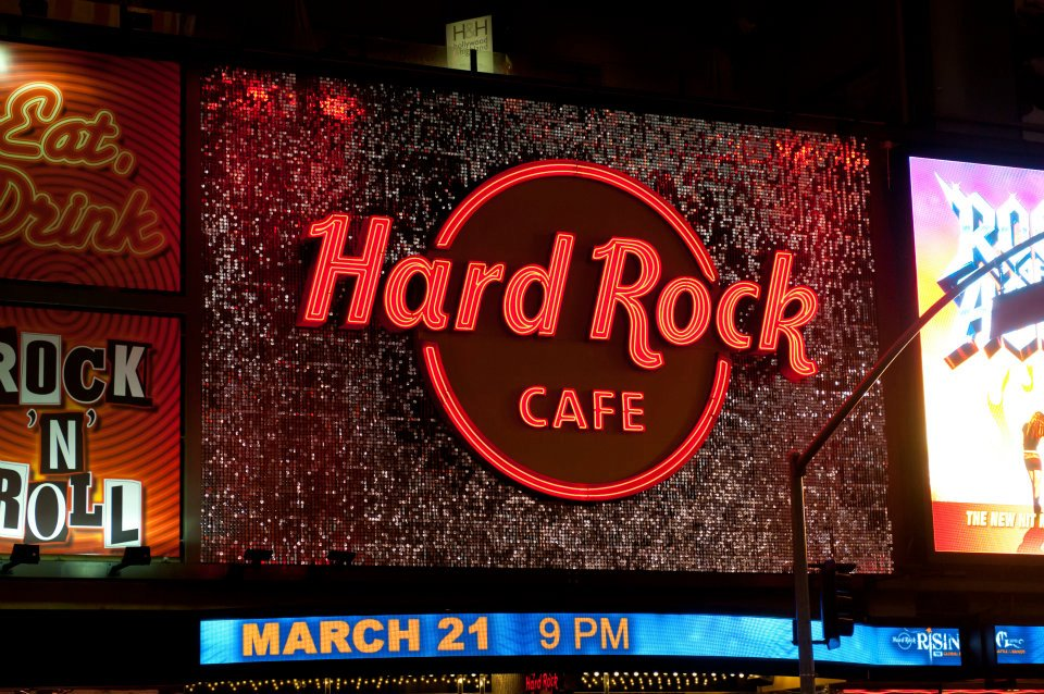 Hard Rock Cafe Los Angeles SolaRay Sign 5