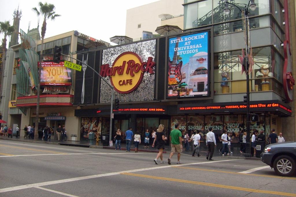 Hard Rock Cafe Los Angeles Sign