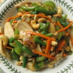 Chicken and Cashew Stir-Fry with Rice and Anniversary Cake!