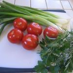 Tomato Pie and Watermelon Salad