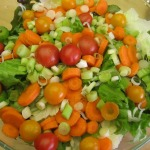 Garden Salad, Gnocchi Bolognese, and Focaccia