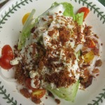 Wedge Salad, Eggplant Mousaka, and Sourdough Bread