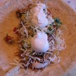 Texas-style Fajita Steak Burritos, Avocado Pico de Gallo, and Carrot Cake