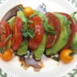 Avocado Tomato Salad and Cheddar-Pot Roast Panini