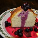 Buttermilk Pound Cake with Limoncello Blueberry Sauce