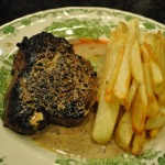 Green Salad, Bistrot Paul Bert Pepper Steak, and Frites~French Fridays with Dorie