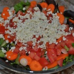 Spring Salad with Baked Chicken with Tomatoes, Scallions, and Herbs