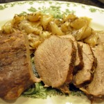 Madeira Roasted Beef with Gravy, Wild Rice with Mushrooms, and Garden Green Beans