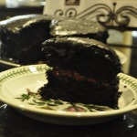 Old-Fashioned Chocolate Cake with Glossy Icing and Strawberry Filling – and the Versatile Blogger Award!