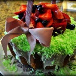 Lemon Easter Basket Cake with Fresh Berries