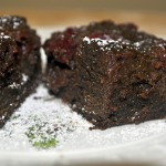 Chambord Brownies with Fresh Raspberries