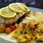 Black Sea Bass en Papillote with Spinach Tortellini in Fresh Tomato Cream Sauce