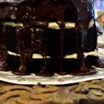 Baked Sunday Mornings: Mile-High Chocolate Cake With Vanilla Buttercream
