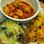 Book Review: Muy Bueno – Pork in Red Chile Sauce with Mexican Rice