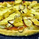 Pizza Bianca with Prosciutto, Brie, and Artichoke Hearts