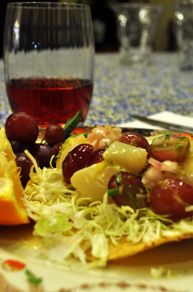 We served this wonderful meal with 2012 Peachy Canyon Rose
