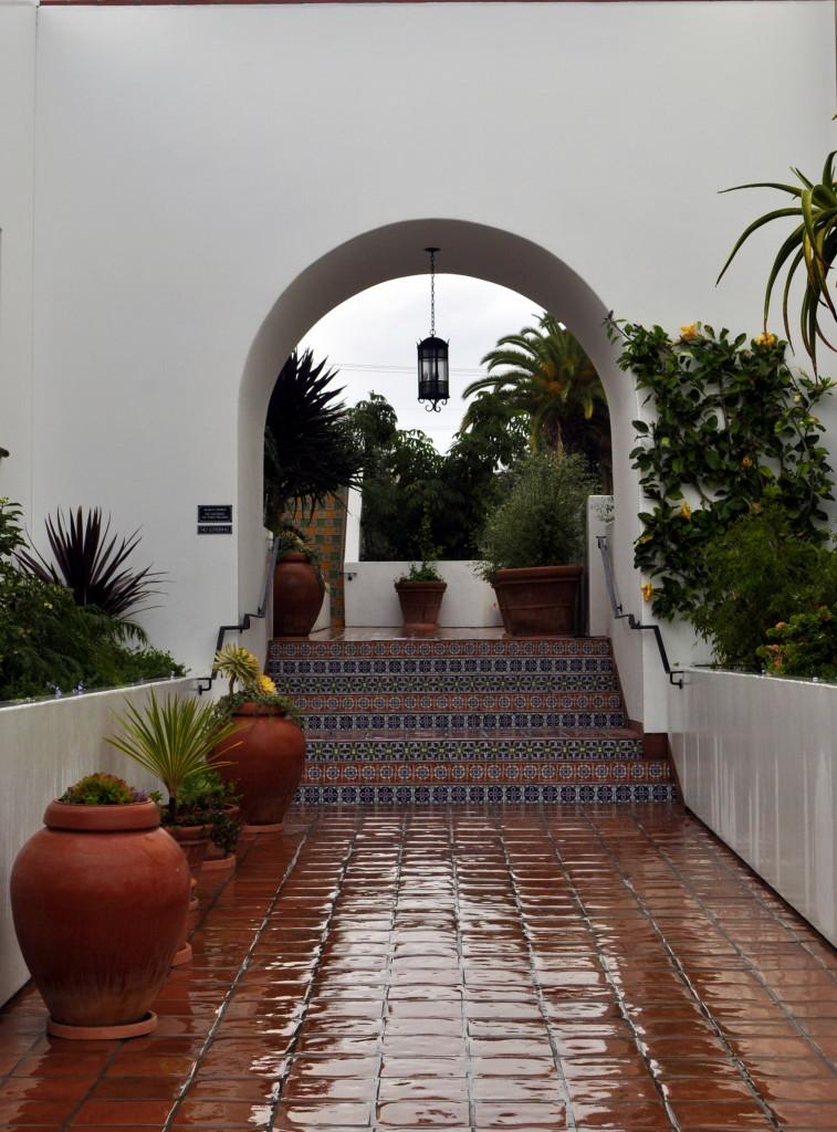 Courtyard outside of the Santa Barbara Public Market