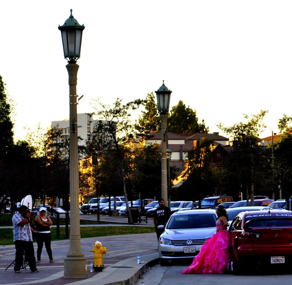 A model photo shoot in Pasadena