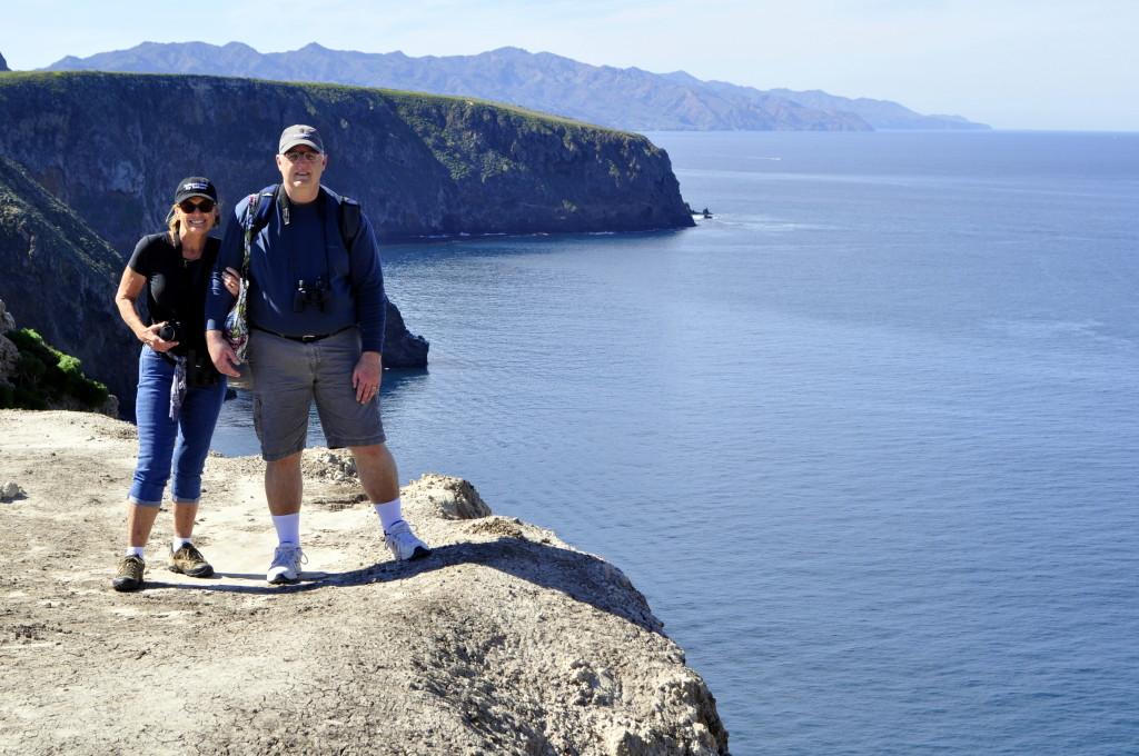 Mary & John at Cavern Point, Santa Cruz Island