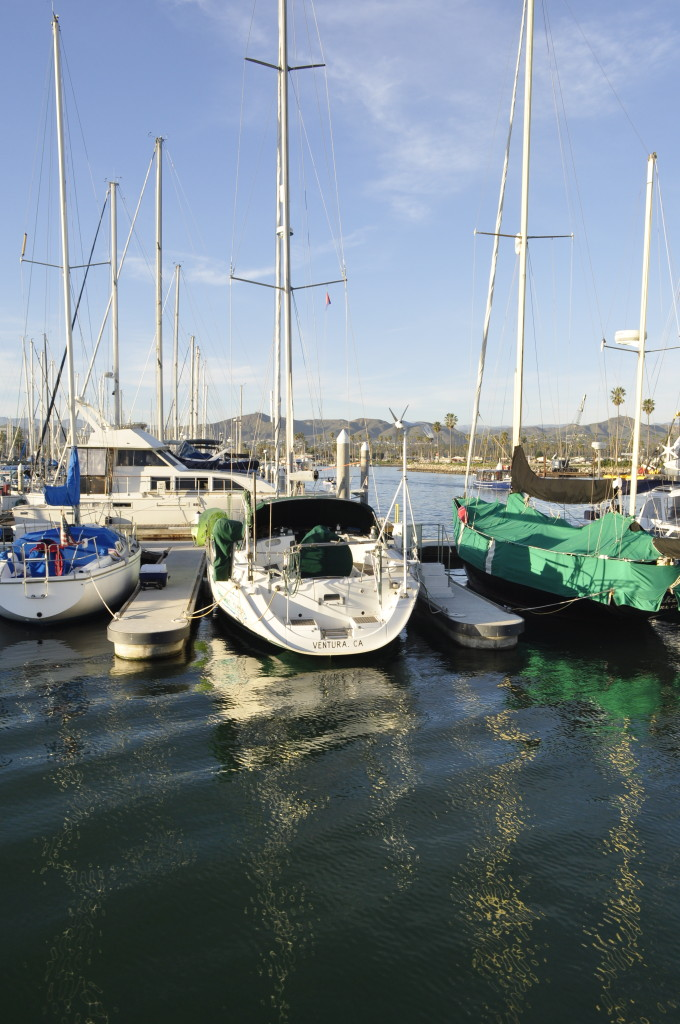 Sailboats in Ventura Harbor