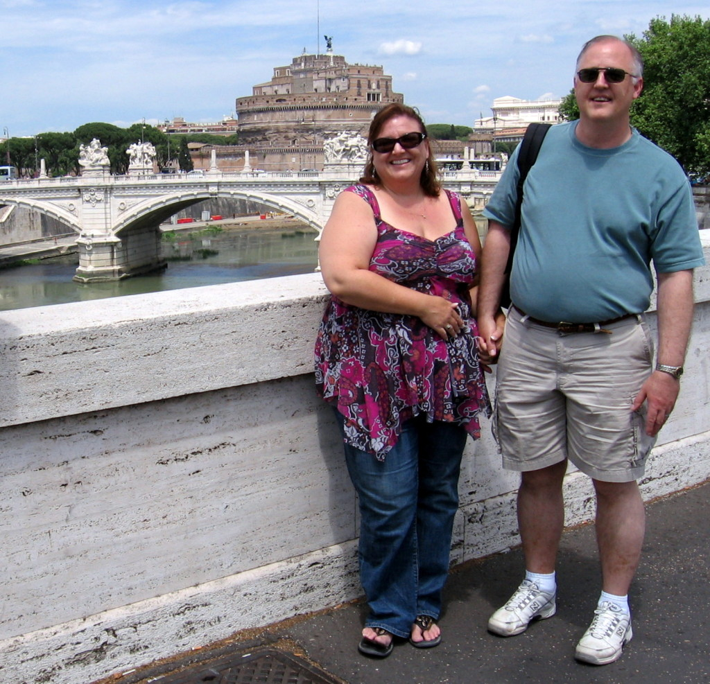 John and me in Rome on our honeymoon!