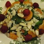Spinach Salad with Lemon-Raspberry Vinaigrette