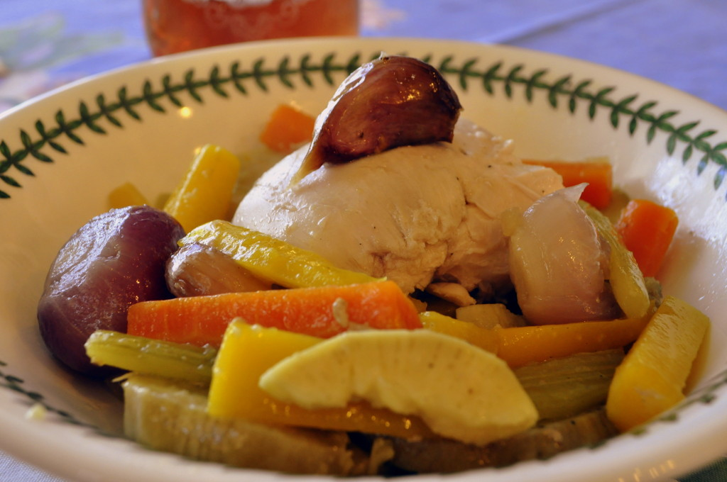 Flavor-infused chicken and vegetables