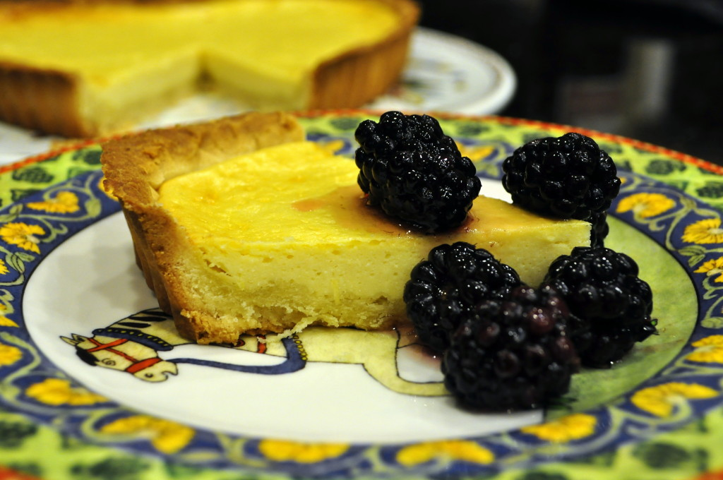 A simple, lovely tart that pairs beautifully with fresh fruit